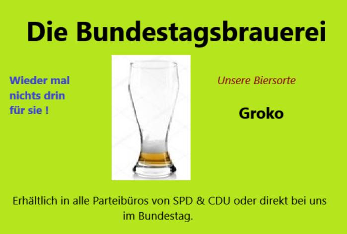 Biersorte Groko