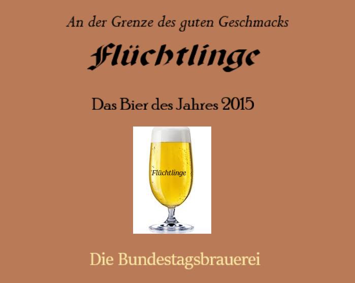 Flüchtlinge - das Bier