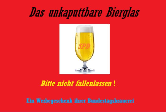 SPD-Bierglas
